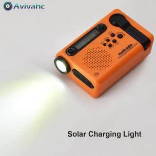 Máy nghe đài FM AM tích hợp sạc dự phòng sử dụng năng lượng mặt trời thích hợp khi hoạt động dã ngoại Avivahc thumbnail
