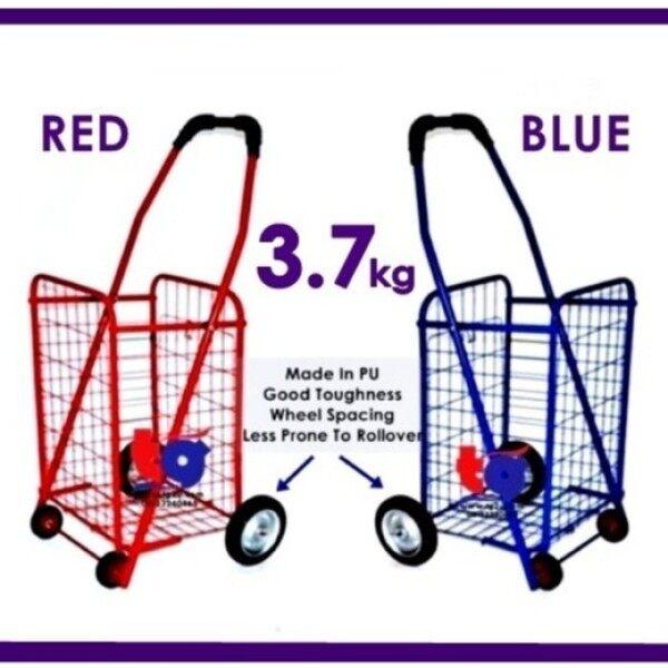 ♝❈  Folding Market Trolley Shopping Cart Troli Pasar Trolley Cart basket