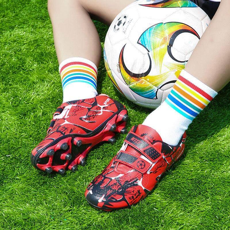 YEALON Giày Đá Bóng Trẻ Đá Bóng Sepatu Futsal Giày Thể Thao Trẻ Em Mềm Giày Futsal Sepatu BOLA Giày Đá Bóng bé trai Sepatu Futsal Thông Số Kỹ Thuật Superfly Ban Đầu Banh Sepak Futsal Trẻ Em Size28-39 14
