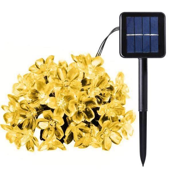 Dây đèn Led 20/50 bóng hình hoa anh đào sử dụng năng lượng mặt trời trang trí sân khấu - INTL