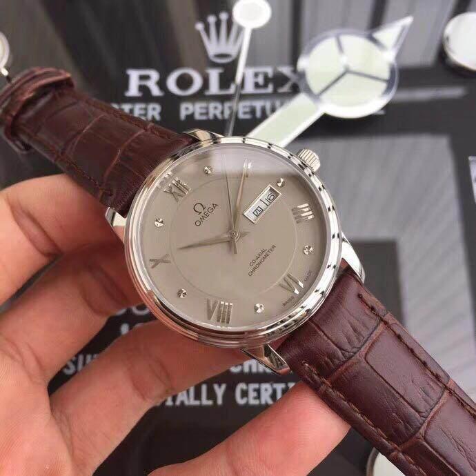 QIKANG OMEGA _ Fine นาฬิกาแผ่นดิสก์บินชุดสายหนัง