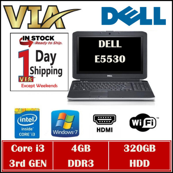 HDMI DELL BUISNESS MODEL LATITUDE E5530 CORE i3 (3RD GEN)~4GB DDR3~320GB HDD~WIN7~15.6~ Malaysia