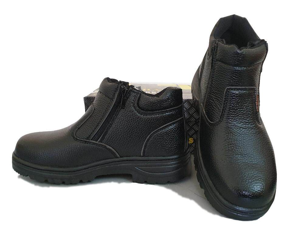 STEEL TOE CAP ZIP ON MID CUT SAFETY SHOES / SAFETY BOOTS
