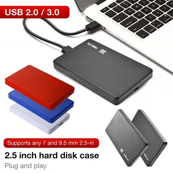 Bảng giá Tanjiaxun48297 ❀ USB3.0/2.0 2.5 Inch SATA Hộp Đựng Ổ Cứng HDD SSD Ổ Cứng Di Động Trường Hợp Hộp Cho Máy Tính Xách Tay Phong Vũ