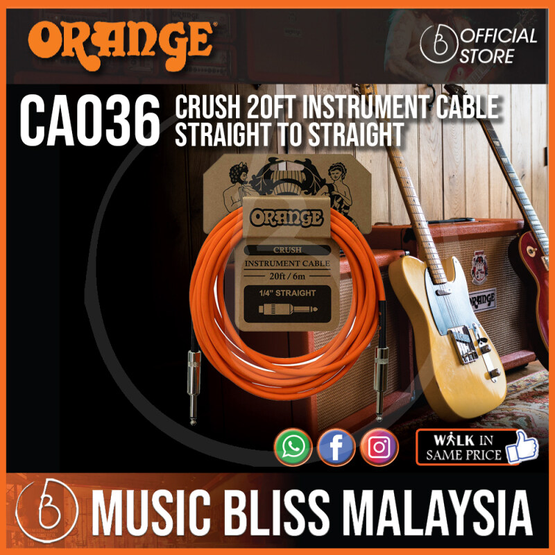 Orange Crush 20ft Instrument Cable Straight to Straight (CA036) Malaysia