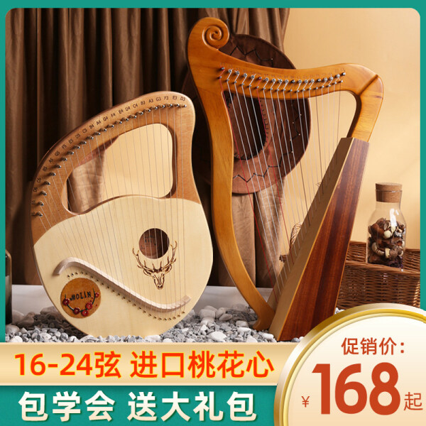 ✶☌△  21 small harp 19 strings are ya harp strings of the harp of 16 and 24 strings niche beginners to learn the violin in the lyre Malaysia