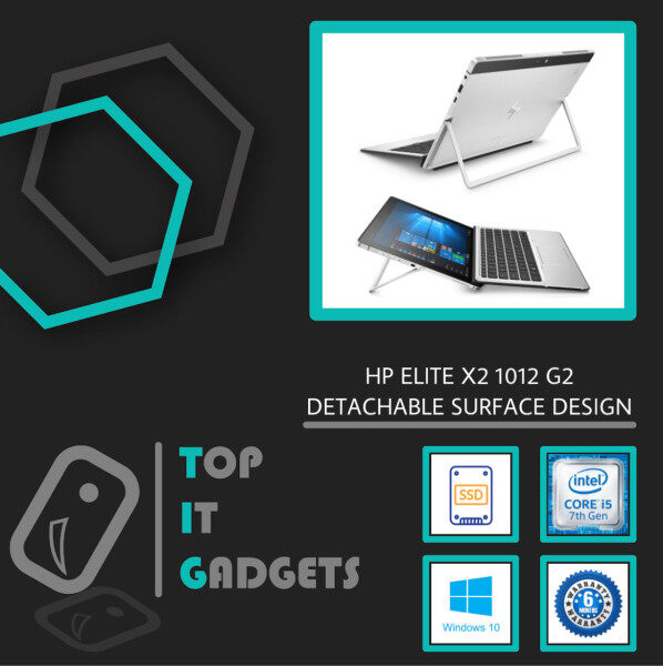 HP ELITE X2 SUPERDUTY SURFACE 1012 G2 TOUCHSCREEN IPS FHD [ 7TH GENERATION INTEL CORE I5 KABYLAKE / 8GB RAM / 512GB SSD STORAGE / DETACHABLE SURFACE DESIGN / 6 MONTHS WARRANTY / LAPTOP TABLET ] Malaysia
