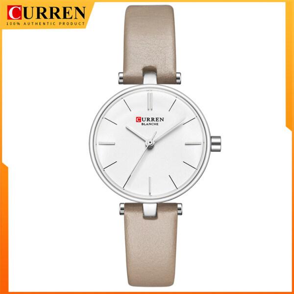 New Fashion CURREN Brand Simple Leather Strap Watches Women Watch Ladies Casual Dress Quartz Wristwatch Gift 9038L Malaysia