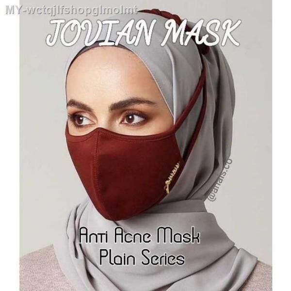 🔥 Readystock JOVIAN Anti Maskacne Cloth Mask Rewashable Reusable Plain Tie back Hijab Mask 3 Layer Malaysia