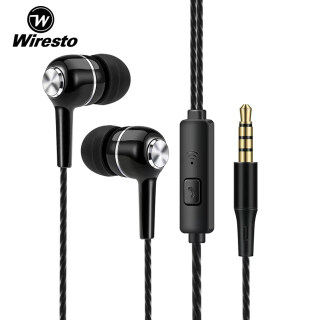 Wiresto tai nghe giá rẻ 5k In-Ear Headphones Earphone Wired Earbuds Sport In Ear Headphone Stereo Headset3.5mm Jack Wired Cable Music Headphone HIFI Sound Quality No Ear Pain Earphone Headphone with HD Microphone thumbnail