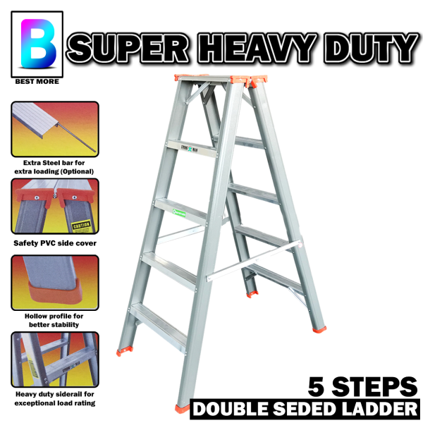 Ladder STRONG MAN  Double Sided Super Heavy Duty (5 Steps to 12 Steps)