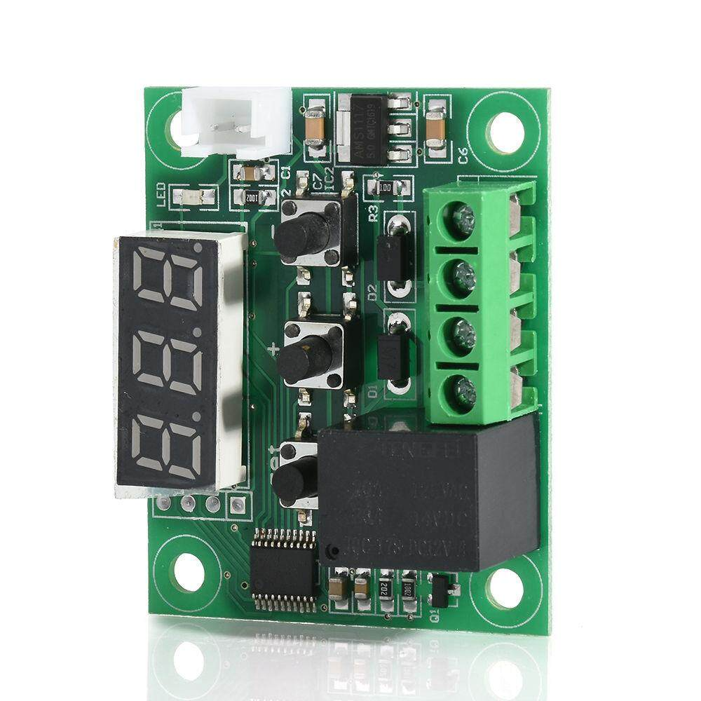 W1209  Blue LED Digital Temperature Controller Board Micro Thermostat Electronic Temp Control 12V DC Sensor Module Switch with One-channel Relay and Waterproof
