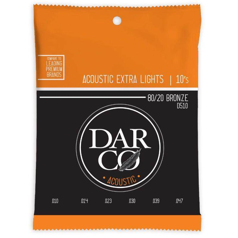 Martin Darco D510 80/20 Bronze Acoustic Guitar Strings Extra Light 10-47 Malaysia