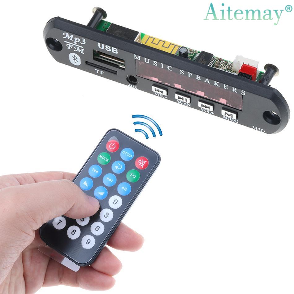 Remote Control 12V LED Bluetooth Stereo MP3 Player Decoder Board SD//USB//AUX//FM