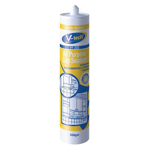V-Tech VT-222 All Purpose Gap Sealant/ White paintable Silicone