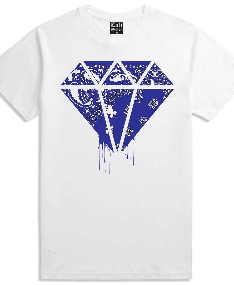 4e0336a1 Fashion men's t-shirt Street Wear Clothing Hip Hop T Shirt Blue Bandana Rag  Clothing