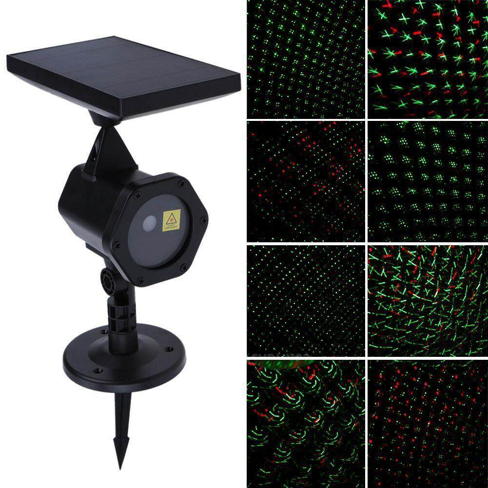 PER Waterproof Solar Power LED Projector Light Projection Light Flash Light Colorful Outdoor Garden Lawn LightSolar Power LED Laser Projector Light Flash Outdoor Garden