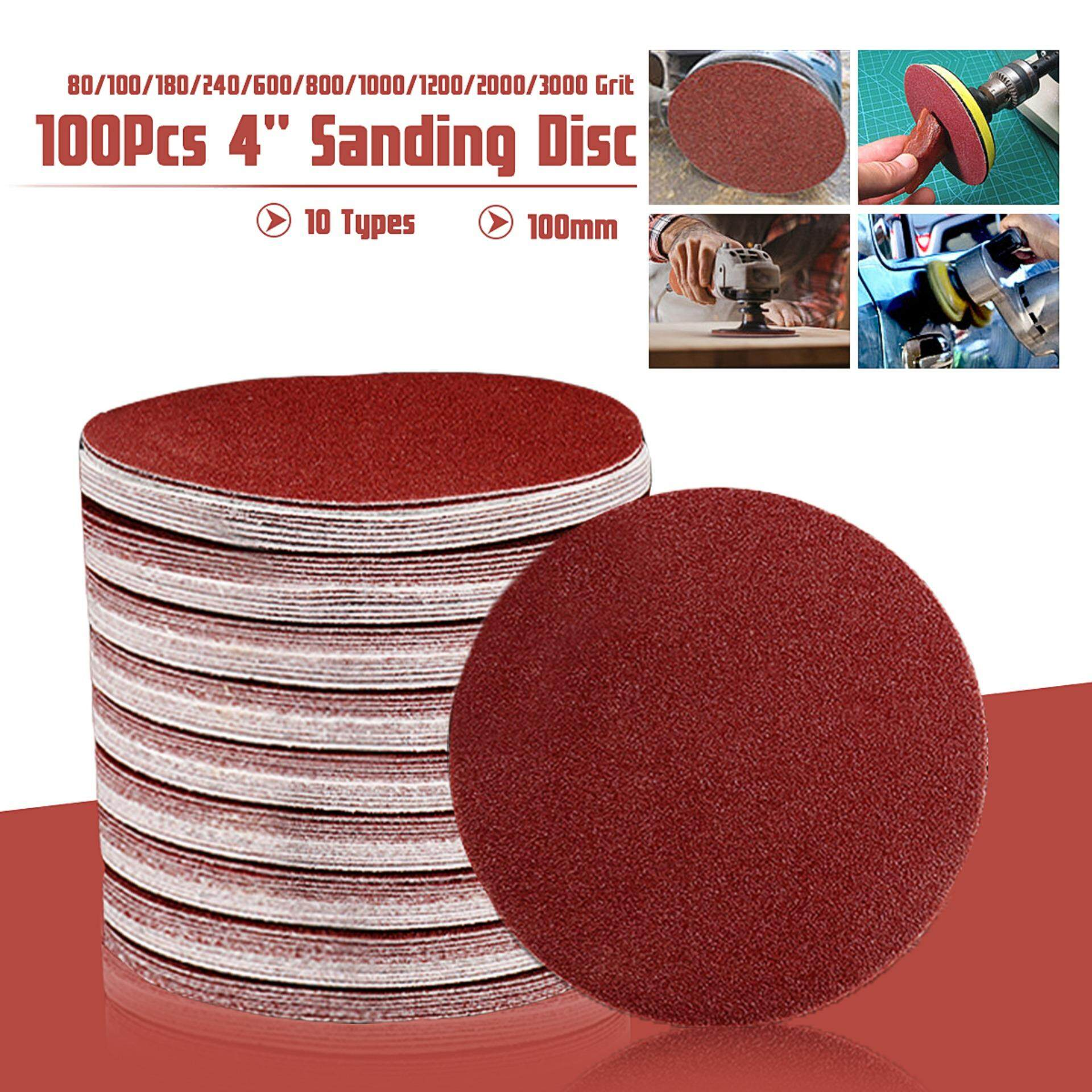 【Year-end Promotion】100PCS 4  Inch 100mm Mix Grit Sander Discs Sanding Pad Polishing Pad Sandpaper