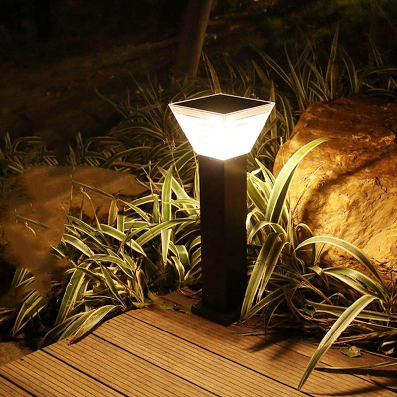 Led Lamps Outdoor Lighting Solar Column Lamp Garden Landscape Light Led Outdoor Waterproof Lawn Pin Light Palace Shape Warm Light Lights & Lighting