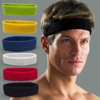 Băng Đô Thấm Mồ Hôi Thể Thao Cotton 10 Màu Cho Nam Nữ Băng Đô Co Giãn Tập Gym Yoga Băng Đô Cài Tóc thumbnail