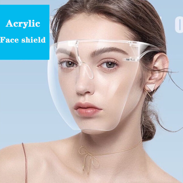 Novix local ready stock Oversized full face shield for adults kids large mirror protective mask acrylic full face mask sunglasses BLOCC eye protection mask