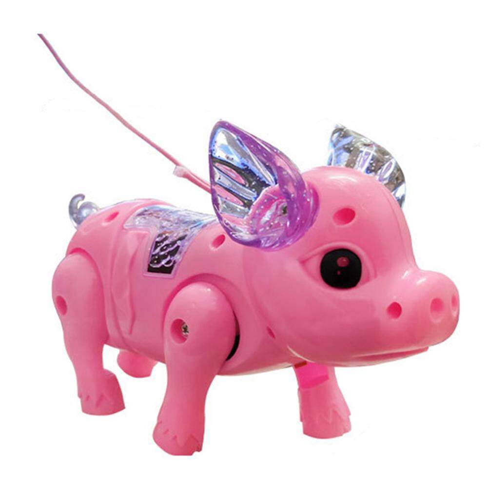 Sanwood® Electric LED Lighting Musical Pig Animal with Leash Walking Toy Kids Xmas Gift