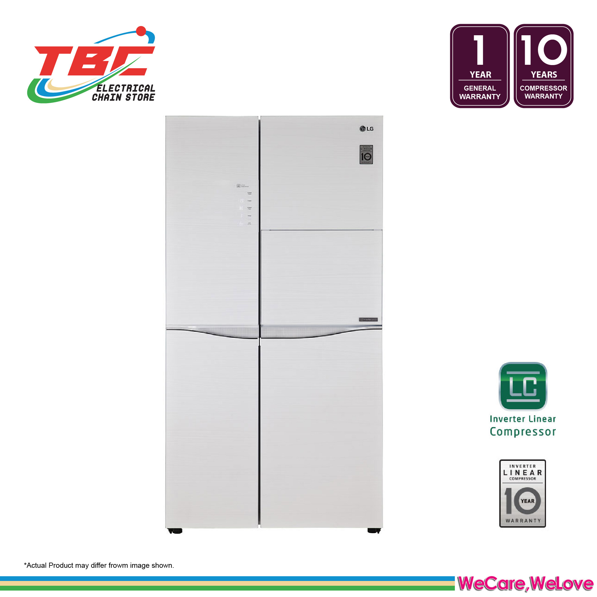 LG IEC Gross 675L Mega Capacity Side-by-Side Refrigerator with Home Bar GC-C247UGUV
