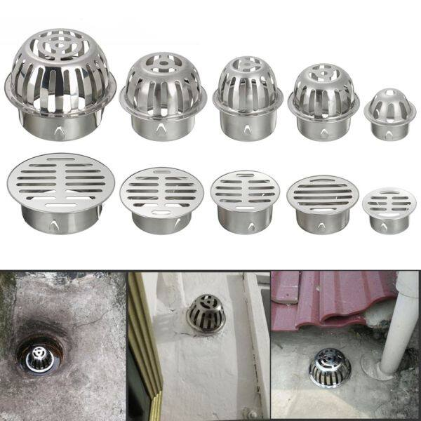 YOUZA96926 Outdoor Round Stainless Steel Durable Balcony Drainage Cover Roof Floor Drain Rain Pipe Cap Drainage Plumbing Fitting