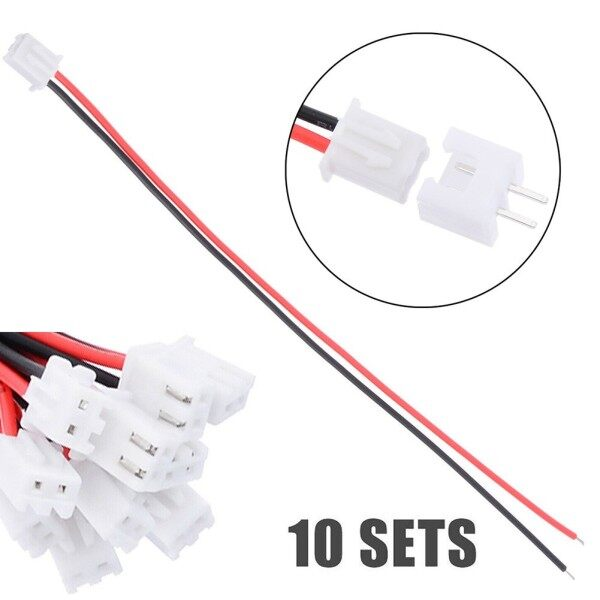 10 Set 2 Pin Mini Micro JST XH2.54mm 24AWG Connector Plug With Wires 150mm Tools