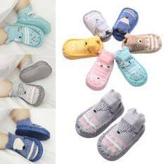 A5TG Trong nhà Tất trẻ em Trẻ mới biết đi An ủi Giày cũi cho trẻ sơ sinh Booties trẻ em Giày chống trượt Vớ sàn cotton