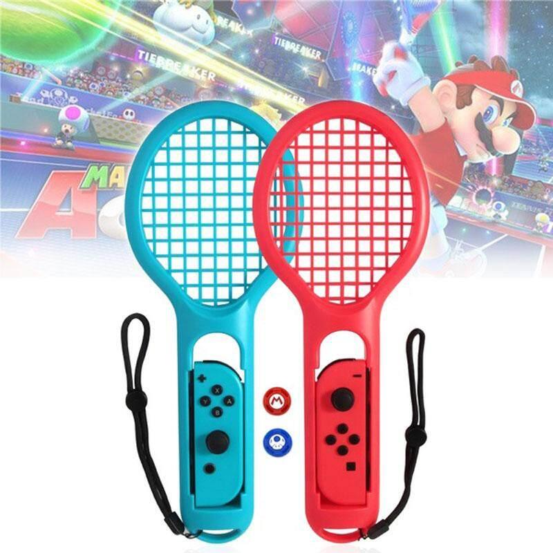 Giá Vợt Tennis cho Nintendo Switch Joy-Con Bộ Điều Khiển Bộ Cặp Tay Cầm cho N-Công Tắc Game Mario Tennis ACES