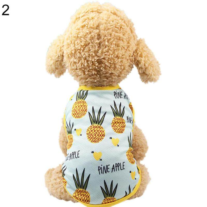 Đáng Yêu Dứa Pet Dog Cat Dress/Vest Trang Phục Mùa Hè Trang Phục Cặp Đôi