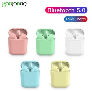 GOOJODOQ Tai Nghe Không Dây Bluetooth 5.0 Màu Macaron TWS I12, Tai Nghe Nhét Tai Điều Khiển Cảm Ứng Với Bộ Sạc, Mic Dành Cho Android IOS thumbnail