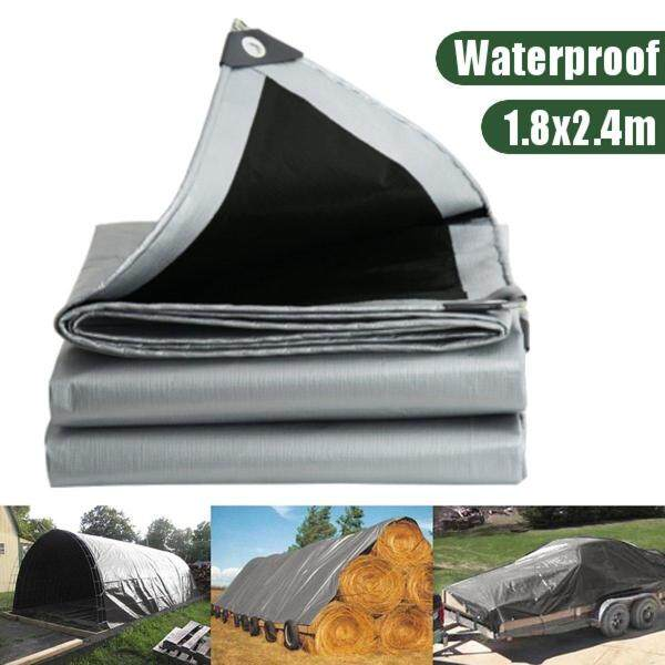 1.8x2.4m Waterproof Camping Tarp Ground Sheet Outdoor Garden Cover with Eyelets