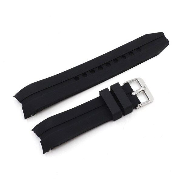 Curved End Silicone Rubber Watch Strap 20mm 22mm High Quality Stainless Steel Buckle Replacement for Rolex GMT Yatch Master Malaysia