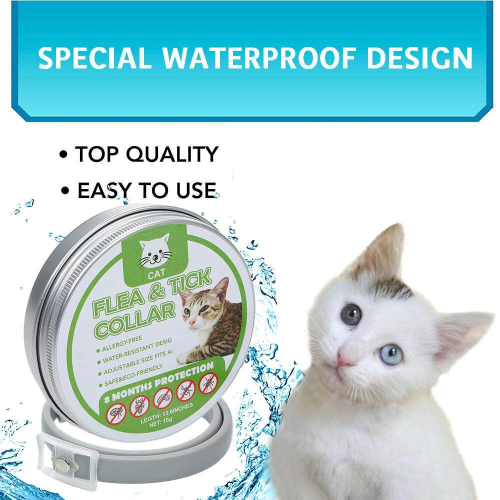 Cats Flea And Tick Collar Treatment Prevention Natural Essential Oil Adjustable Waterproof 8 Months Protection By Tdigitals.