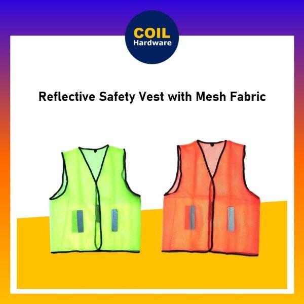 Heavy Duty UNISEX Reflective Line Safety Vest [Zip Type] / Green / Orange / Vest keselamatan / Hijau / Oren