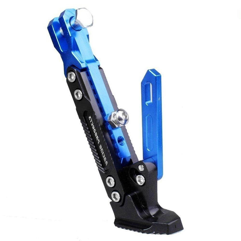 Blue Universal Foot Kickstand Side Stand Durable Cnc Motorcycle Adjustable Motorcycle Accessories Motor Bracket By Move Up Dongqilai Store.