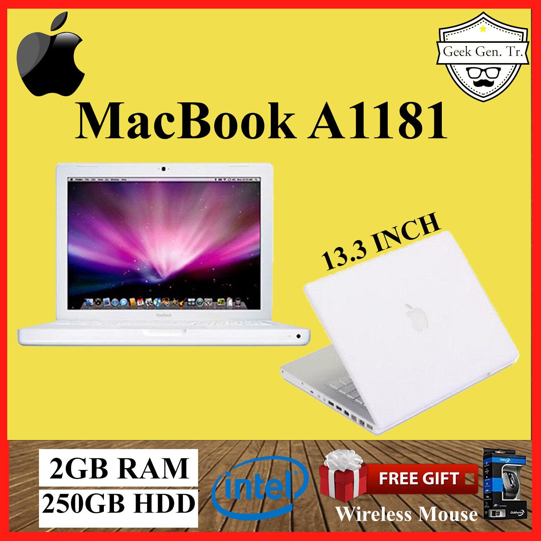 Apple Mac book A1181 (White) 2GB RAM / 250GB HDD / 13.3 INCH Malaysia