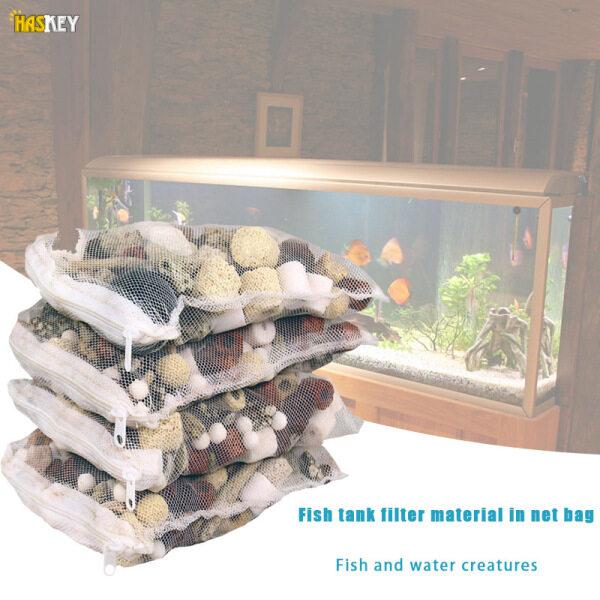 Hackey Bộ Lọc Bể Cá 12 Trong 1 Phụ Kiện Bể Cá Sinh Học Trung Bình Có Túi Lưới