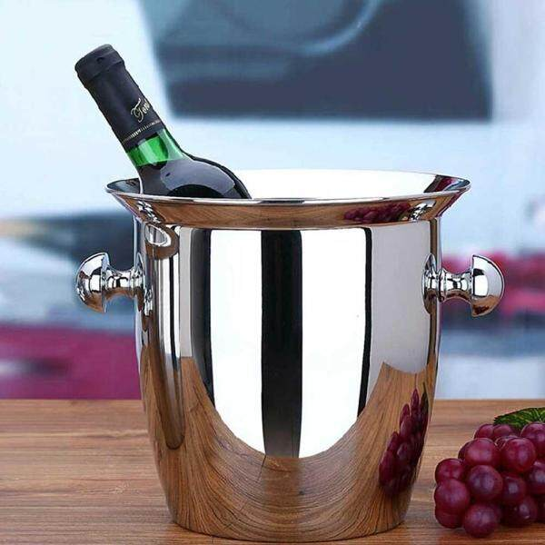 Stainless Steel Thickened Ice Bucket Wine Cool Champagne Cooler Ice Bucket for Hotel Bar KTVs