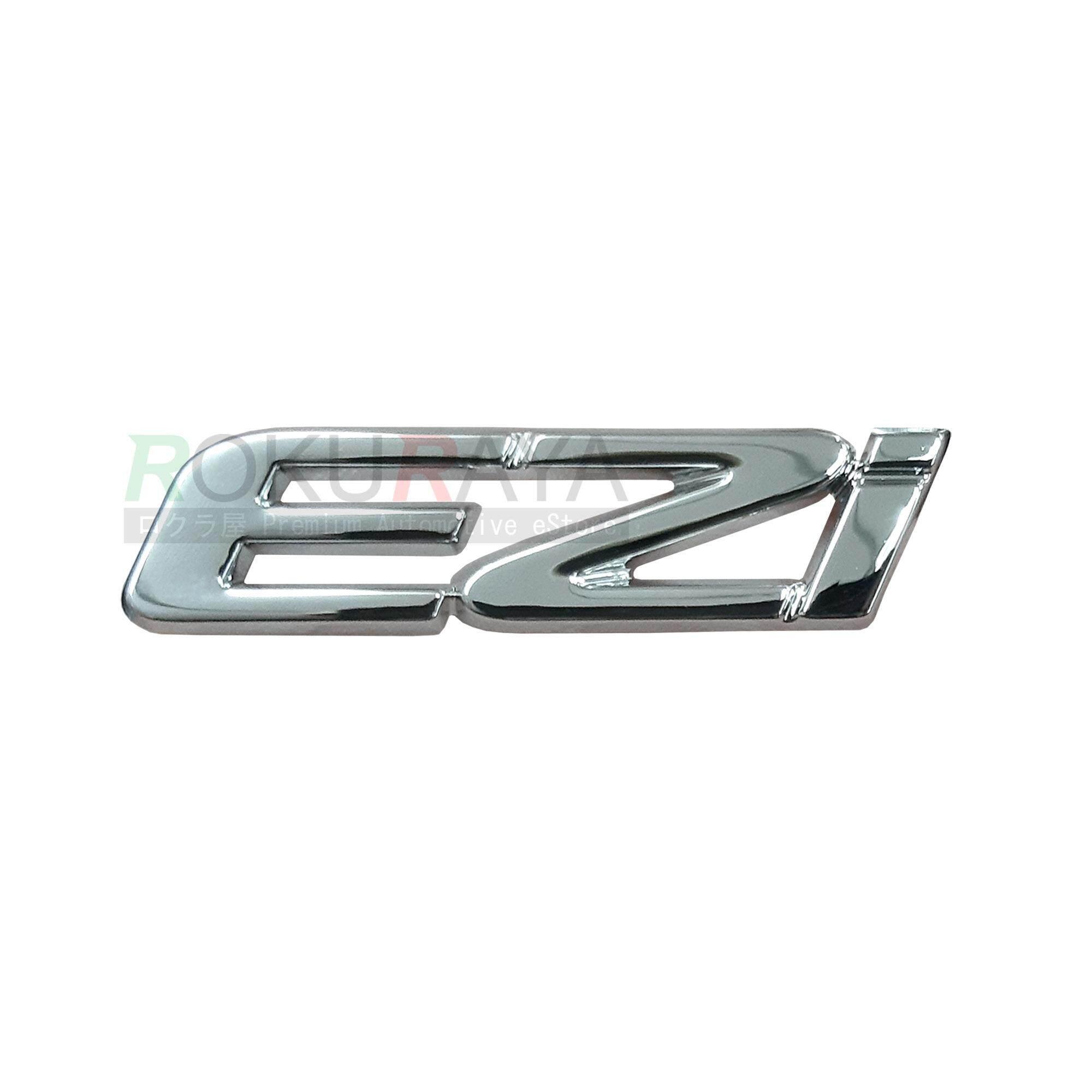 Perodua New Myvi Alza Viva Axia (6cm x 1 5cm) EZI EZi Mark Aftermarket 3D  Car Rear Back Emblem Logo Badge ABS Plastic Chrome Plated Replacement Part