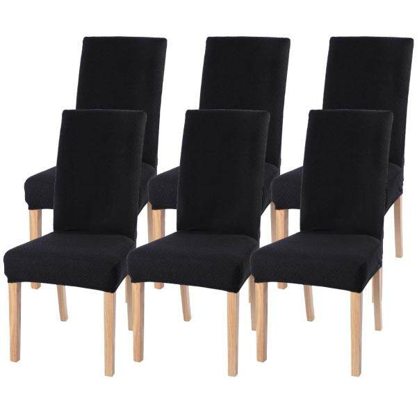6Pcs Dining Chair Cover Removable Washable Stretch Seat Cover Restaurant Chair Cover