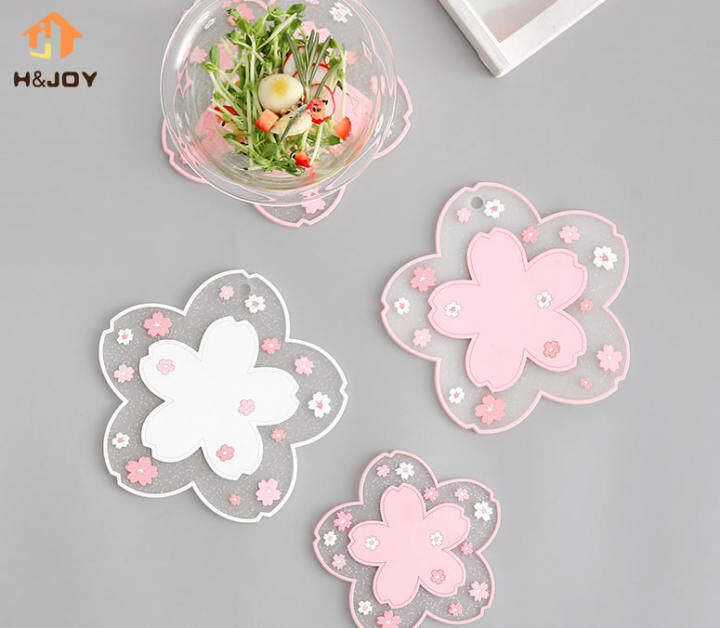1pc Japan Style Cherry Blossom Heat Insulation Table Cup Coaster