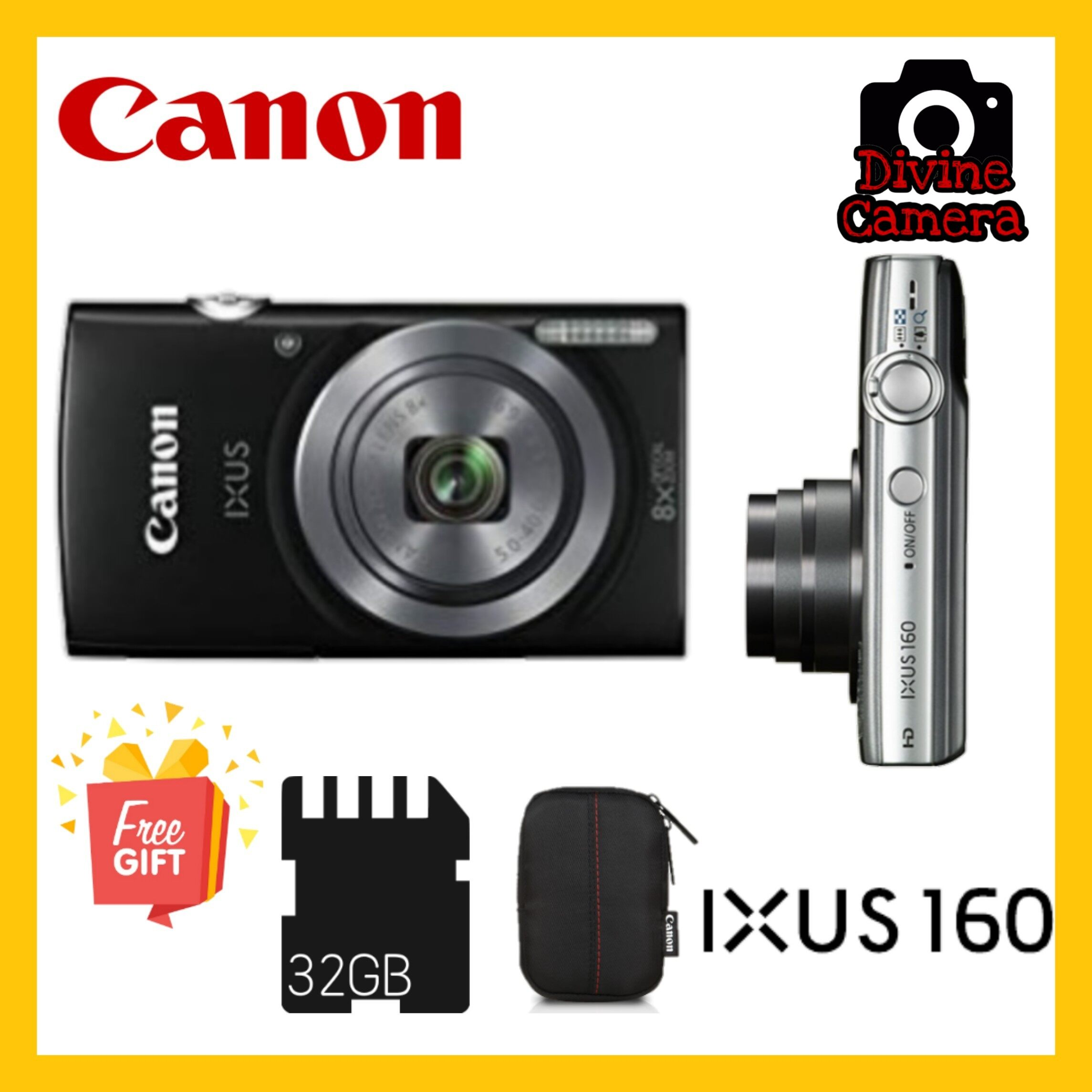 Canon IXUS 160 Digital Compact Camera Point and Shoot