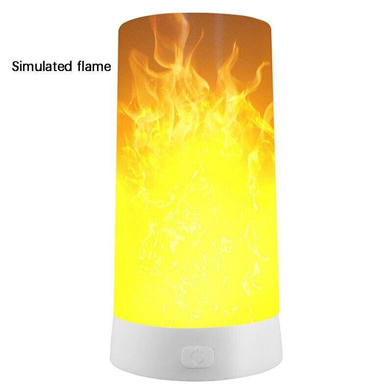 Bảng giá Ngọn Lửa Đèn Ngủ Led USB Mới Mô Phỏng Đèn Lửa Có Thể Sạc Lại Đèn Ngủ Quán Cà Phê Quán Bar Đèn Bàn Bất Cứ Nơi Nào Ánh Sáng 3D Đèn Đêm Phong Vũ