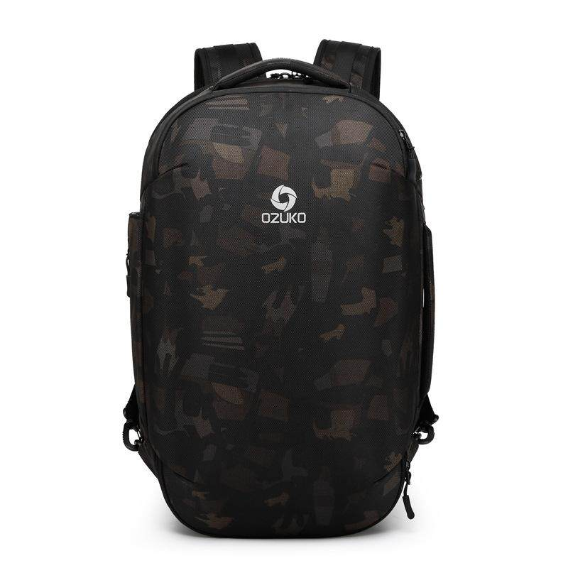 Ozuko Business Backpack Outdoor Travel Backpack Large Capacity Waterproof Male Student Backpack