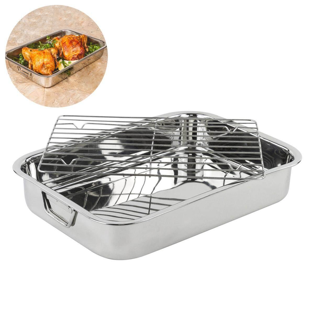 Stainless Steel Deep Roasting Lasagna Pan Roaster W/ Rack