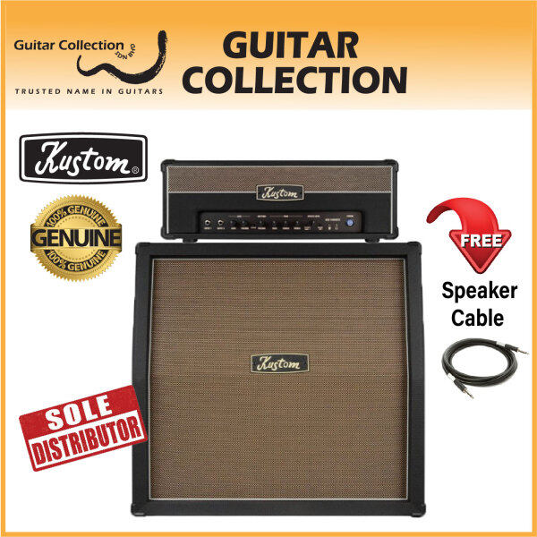 Kustom KG100HFX + KG412 4x12 Guitar Amplifier Head with Guitar Speaker Cabinet Stack Amplifier Malaysia