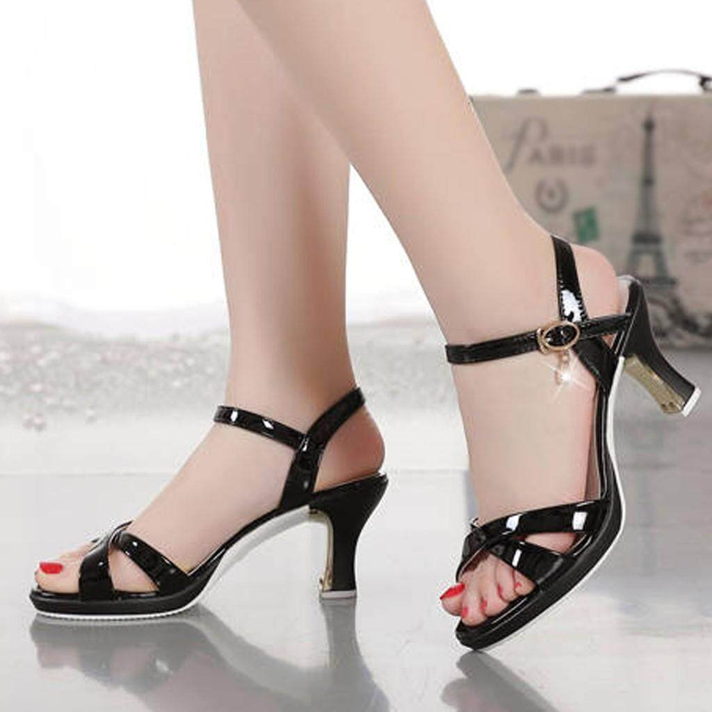 a0537d7f6bb Fashion Women Patent Leather Pumps High Heel Sexy Sandals Wedding Party  Shoes